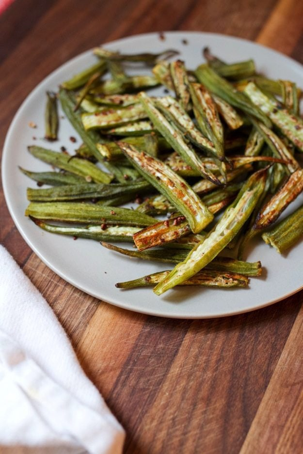 Easy Oven Roasted Okra Eating Bird Food