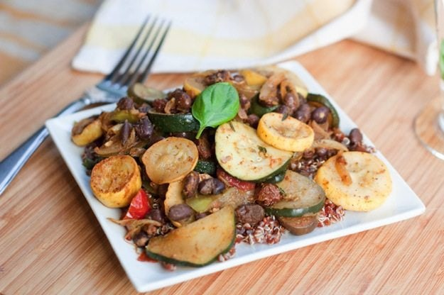 Curried Black Bean Ratatouille #vegan #glutenfree