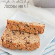 Maple Chocolate Chip Zucchini Bread
