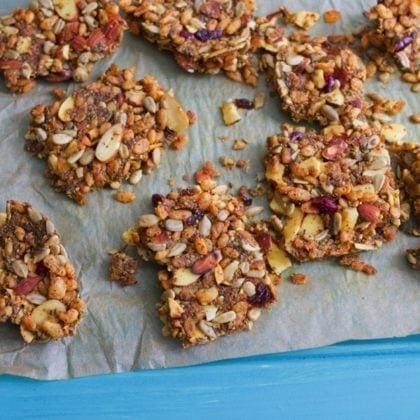 Curried Almond Granola Bars