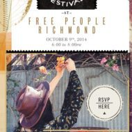 You're Invited! Food & Fashion Festival at Free People Richmond