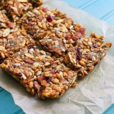 Healthy Curried Almond Rice Granola Bars