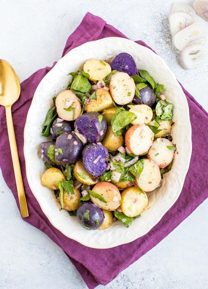 Healthy Potato Salad (No Mayo + Vegan)