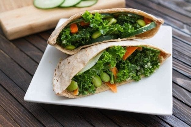 Kale salad stuffed pita 5