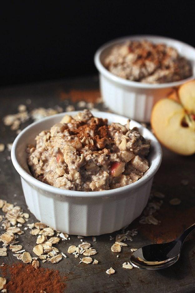 Apple Cinnamon Overnight Oats — tasty yummies