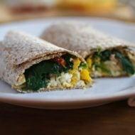 Egg and Hummus Breakfast Wrap