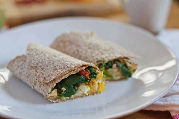 Egg and Hummus Breakfast Wrap