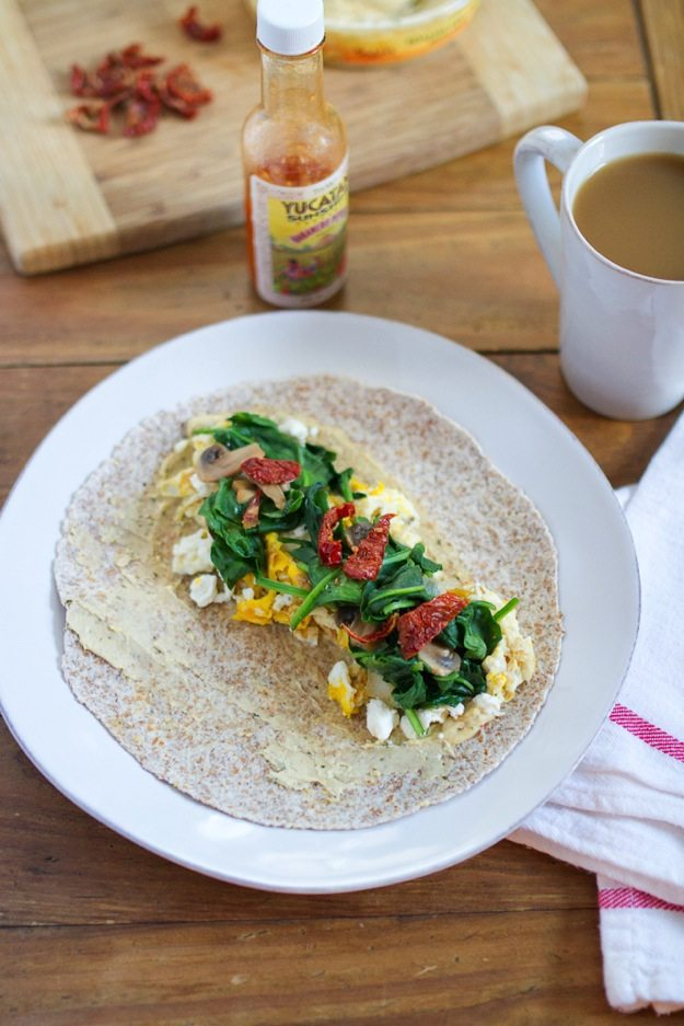 Egg & Hummus Breakfast Wrap