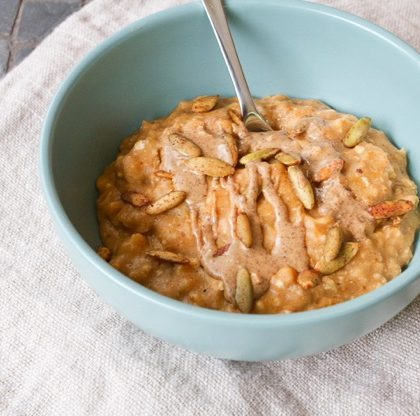Protein Pumpkin Oatmeal with Egg Whites
