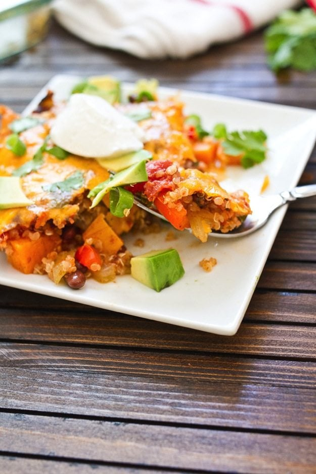 Sweet Potato and Quinoa Fiesta Bake
