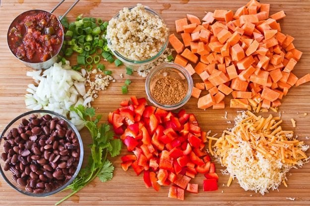Sweet Potato and Quinoa Fiesta Bake Ingredients