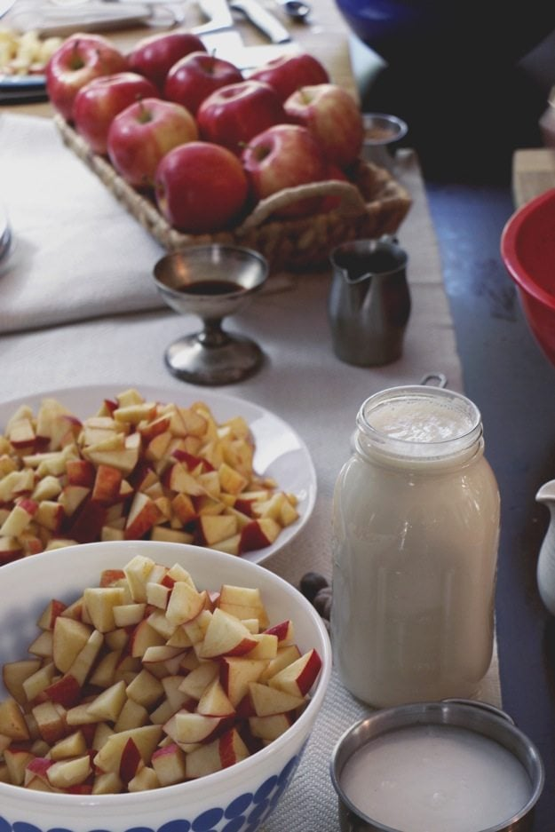 Free People Event -- Apple Pie Squares Ingredients
