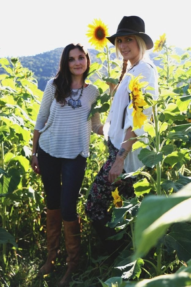 Free People Graves Mountain Photo Shoot Sunflowers
