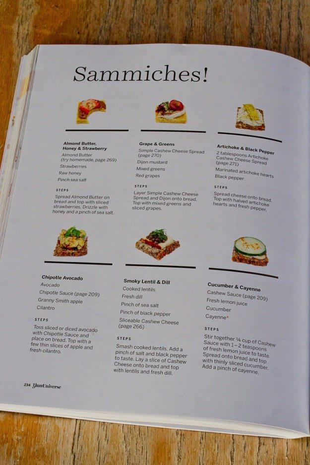 YumUniverse Cookbook -- Sammiches
