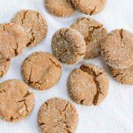 Quinoa Gingersnap Cookies (Vegan + Gluten-Free)