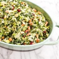 Shredded Kale and Brussels Sprout Salad (Video)