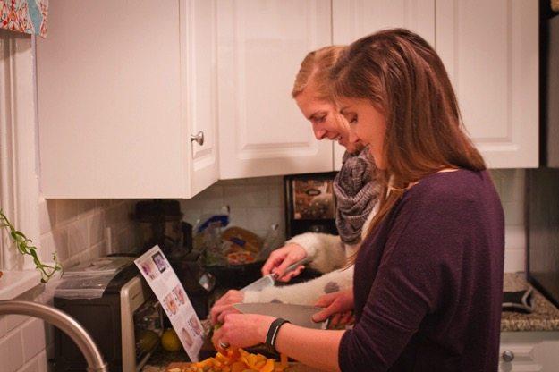 Alyssa and I Chopping