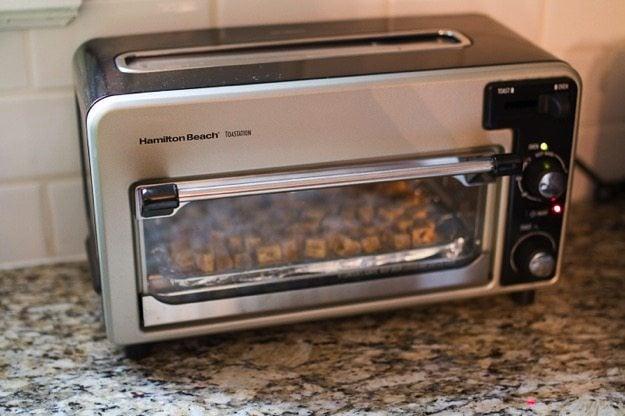 Toaster Oven Baked Tofu Eating Bird Food