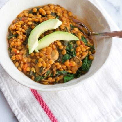 Lentil and Kale Stew with Salsa