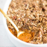 Sweet Potato Casserole Made Gluten-Free and Vegan