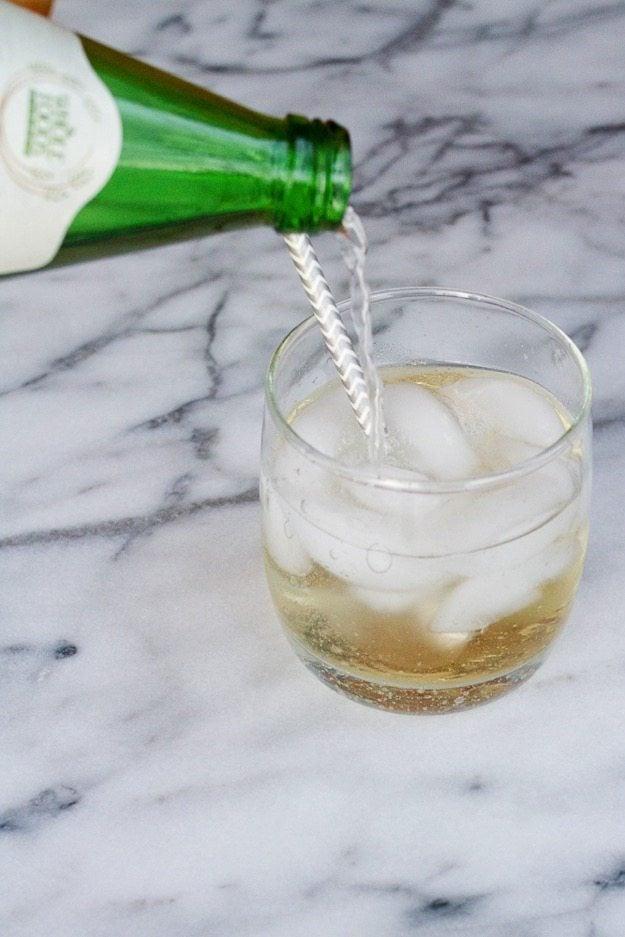 Sparkling Mocktail with Elderflower Apple Lime Vinegar and Sparkling Water