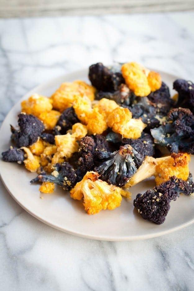 Almond Roasted Cauliflower from Let Them Eat Vegan!