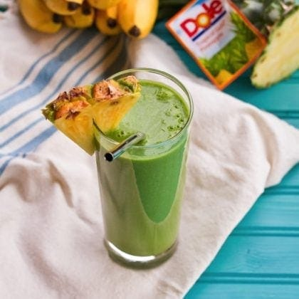 Pineapple Grapefruit Vitamin C Booster Green Smoothie