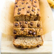 Chocolate Chip Coconut Flour Banana Bread