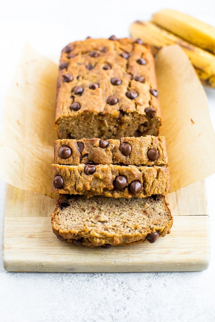 Easy Coconut Flour Banana Bread With Chocolate Chips