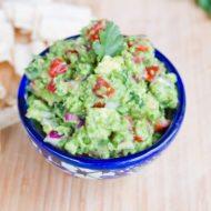 Healthy Guacamole with Frozen Peas