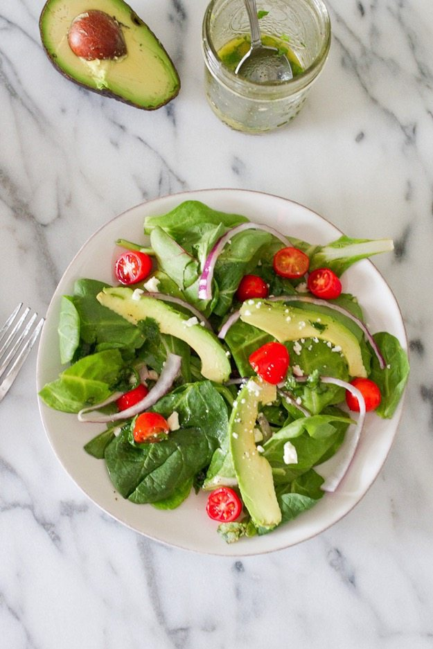 Deconstructed Guacamole Salad with a Cilantro-Lime Dressing