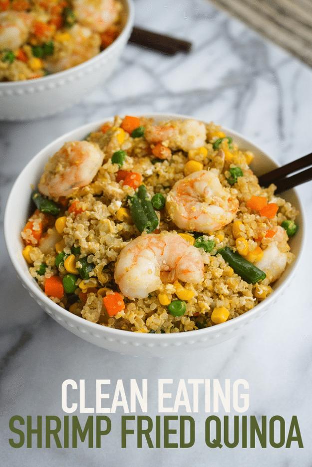 Healthy Weeknight Meal Idea -- Shrimp Fried Quinoa