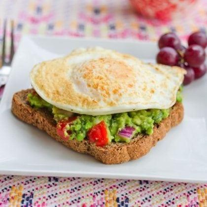 Guacamole Toast for Breakfast