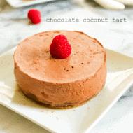 Paleo Chocolate Coconut Tart + Healthy Valentine's Day Desserts
