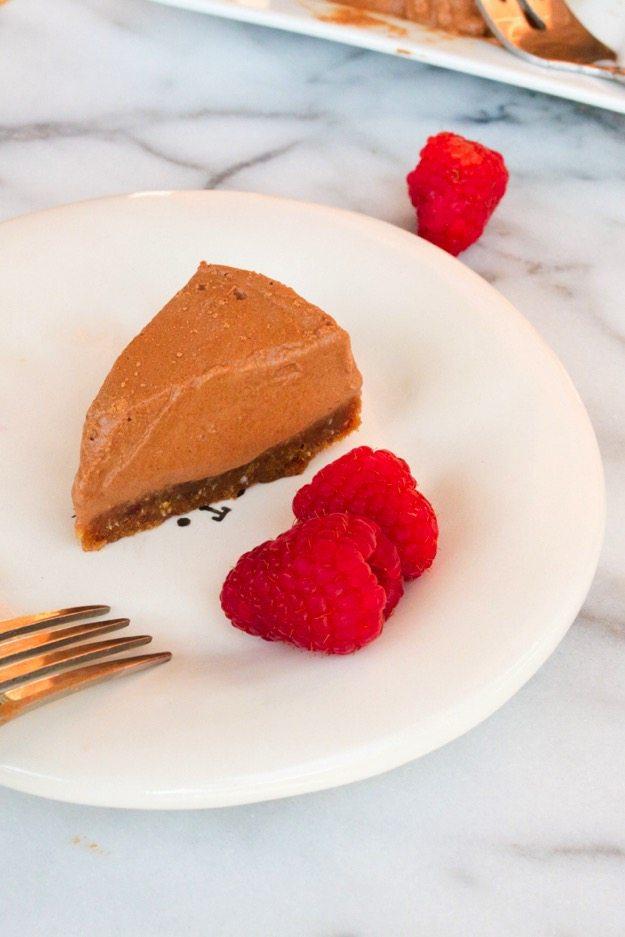 Chocolate Coconut Tart (paleo + vegan) // Rich, creamy and perfect for Valentine's Day