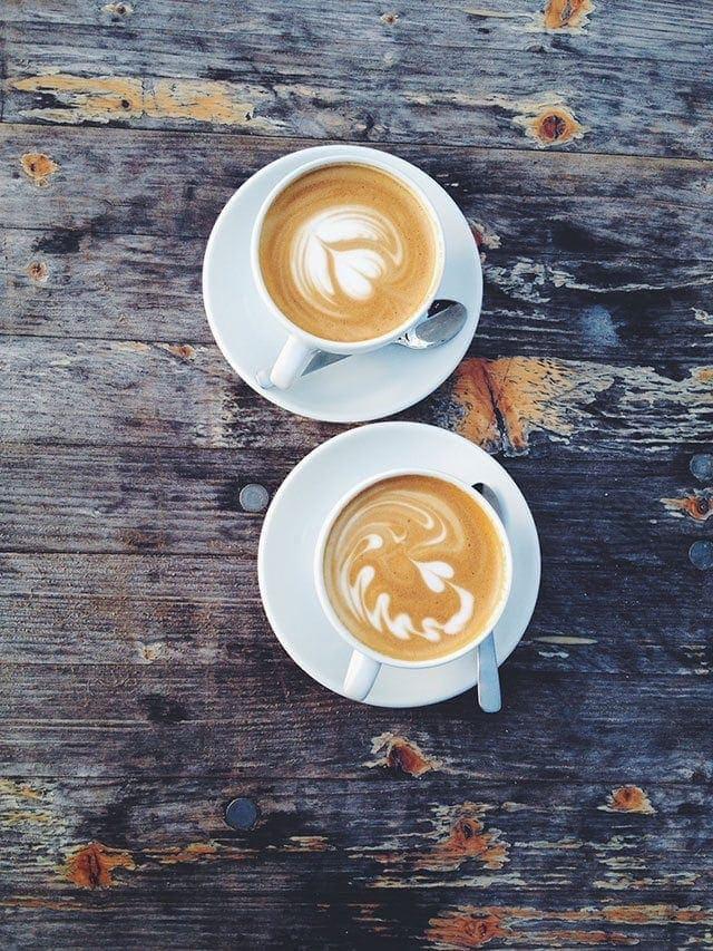 latte art hearts