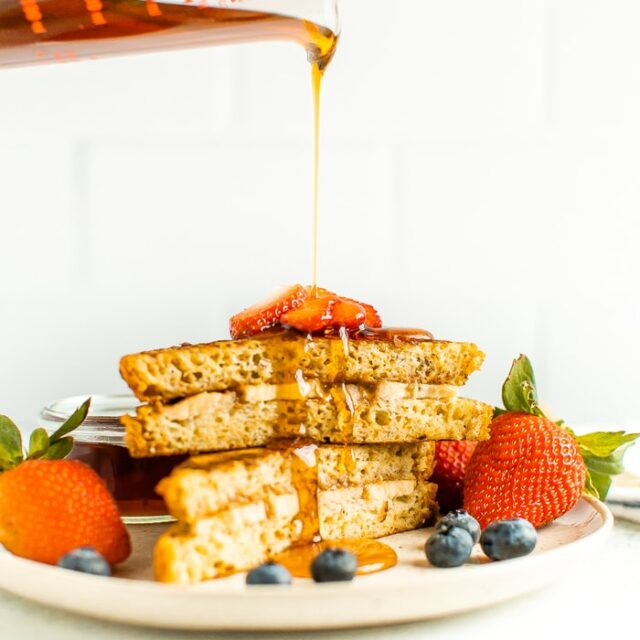 Healthy Stuffed French Toast with Almond Butter & Banana