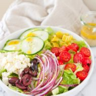 Quick & Healthy Greek Salad Wrap