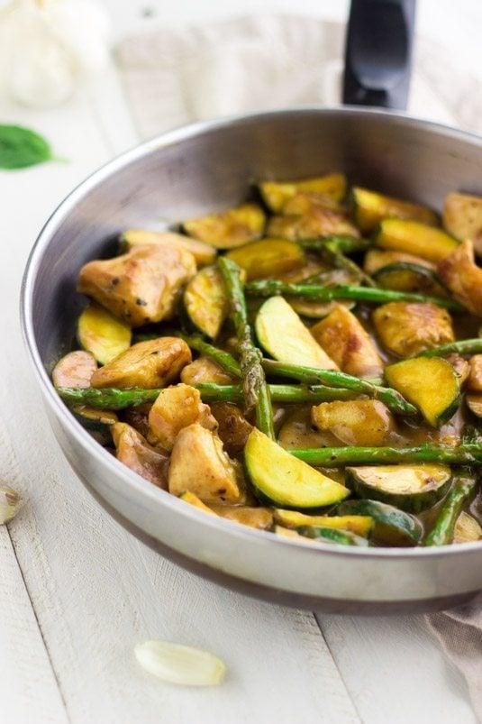Honey Mustard Chicken Stir Fry by Food Faith Fitness