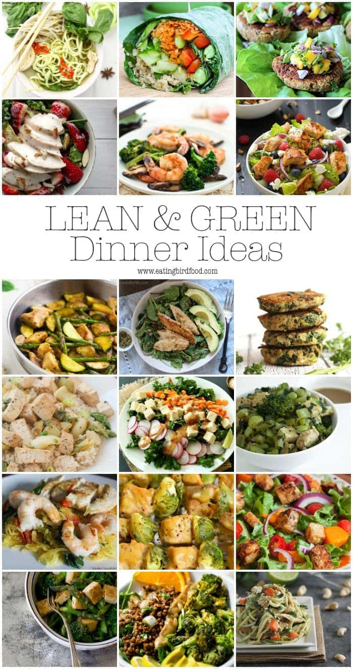 Collage of dinner idea recipes