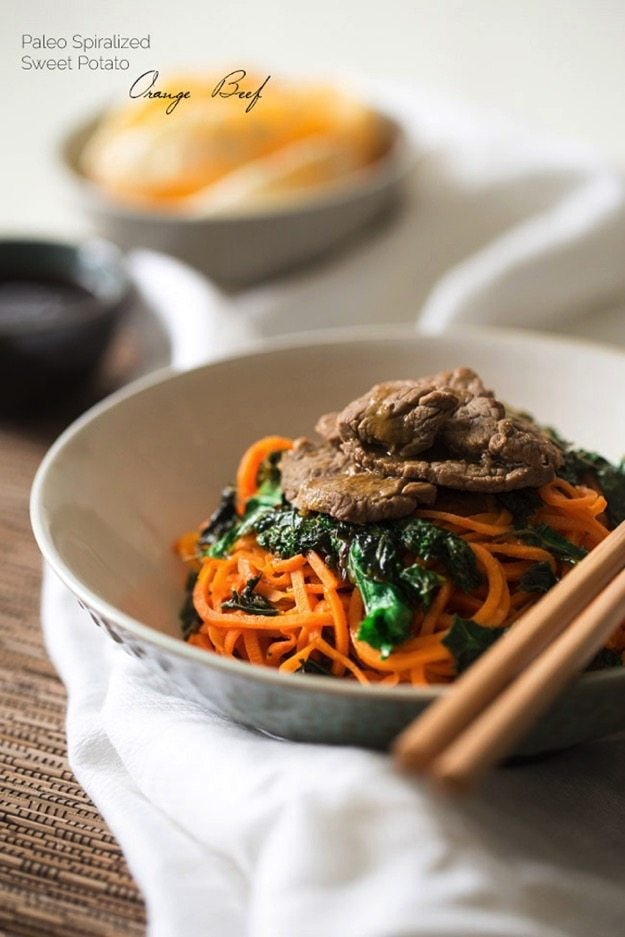 Orange Beef Stir Fry with Kale