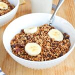 Homemade Gluten-free Cereal with Quinoa Buckwheat & Dates in a bowl.