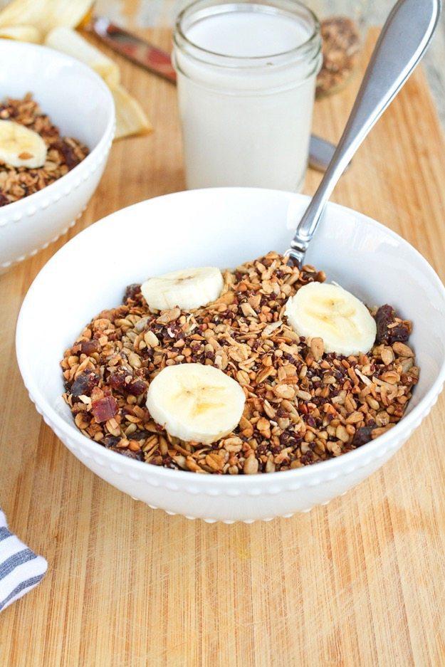 Homemade Gluten-free Cereal with Quinoa Buckwheat & Dates
