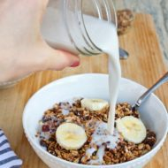 Homemade Gluten-free Cereal with Quinoa, Buckwheat & Dates