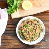 Mushroom Kale Quinoa Risotto