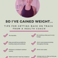 What to do when you gain weight