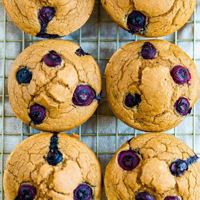High Protein Blueberry Muffins
