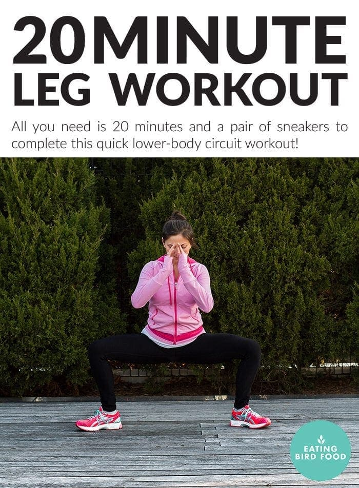 20 Minute Leg Workout (No Equipment Needed)
