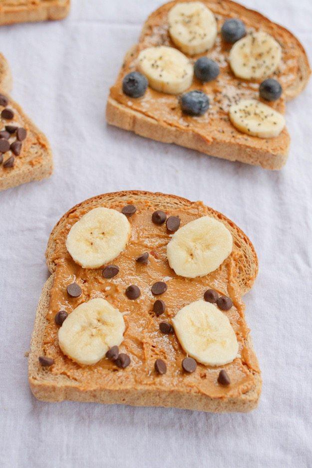 Banana Chocolate Peanut Butter Toast