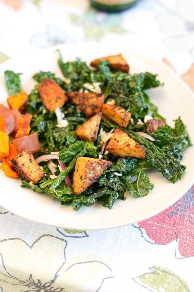 Kale Salad with Tempeh